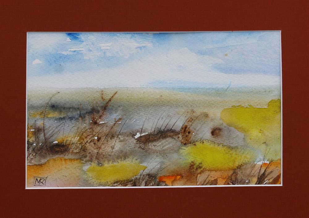 Trawy - akwarel, 66; 29 x 21 cm, 2015