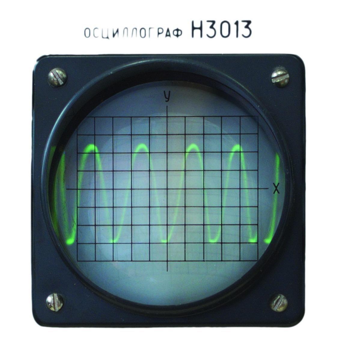 T uje (Farboplot 3), uklad elektroniczny na desce, oscyloskop, instalacja, wymiary zmienne, 2018 (fragment)_resize