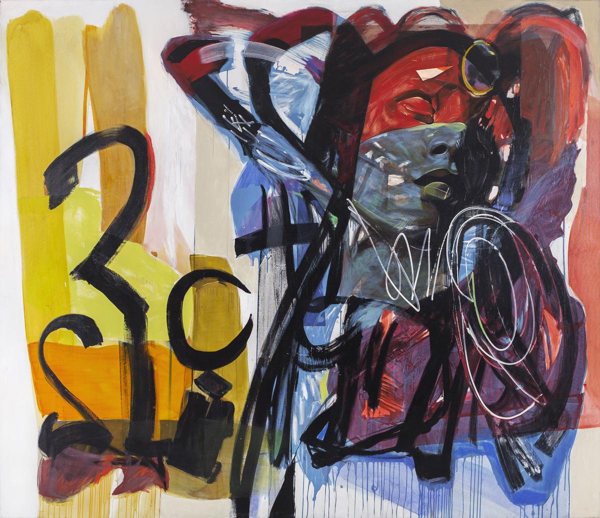 Gron Marcelina, Niebieski, bialy, czerwony, 2014 akryl na plotnie, 190x220 cm aa_resize